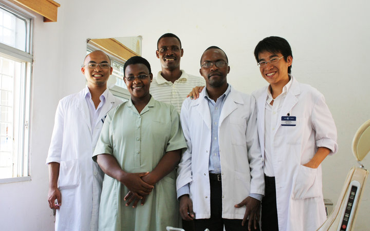 Dentistry students with their supervisors in Arusha, Tanzania