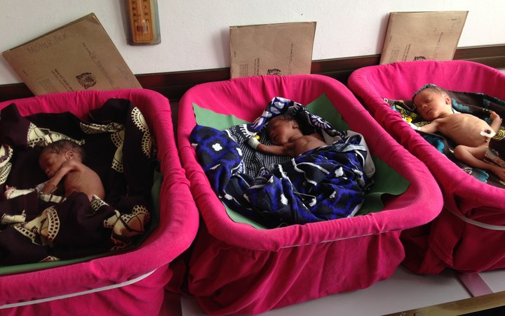 Newborns in the Regional Hospital in Arusha