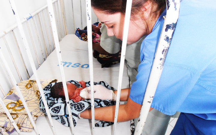 Nursing Elective student Amanda, working in the Regional Hospital in Arusha, Tanzania