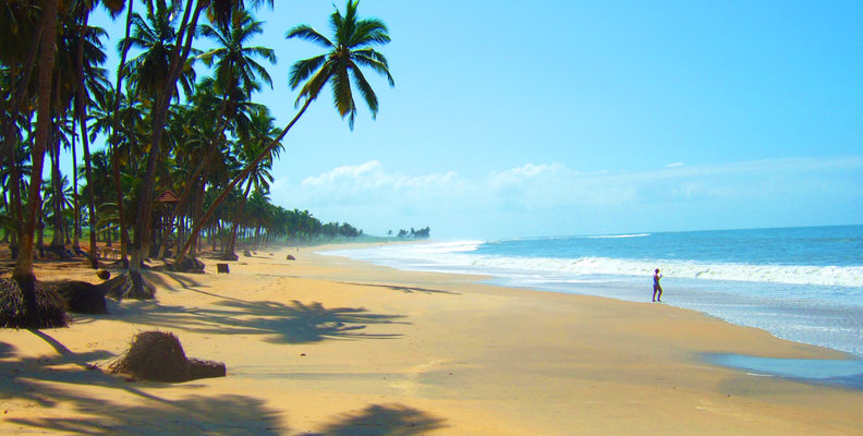 The stunning coast of Ghana