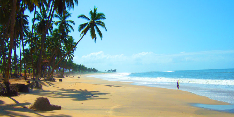 The stunning coast of Ghana