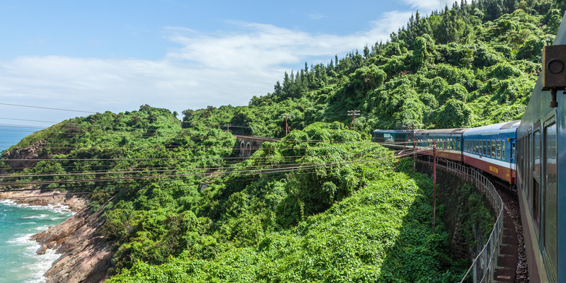 The train to walk in the mountains,vietnam